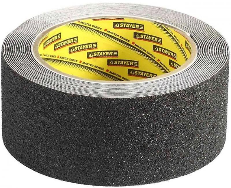 Лента Stayer PROFI клейкая противоскользящая 50мм х 5м 12270-50-05 лента клейкая декоративная восток бумага 15мм x 3м х 4шт