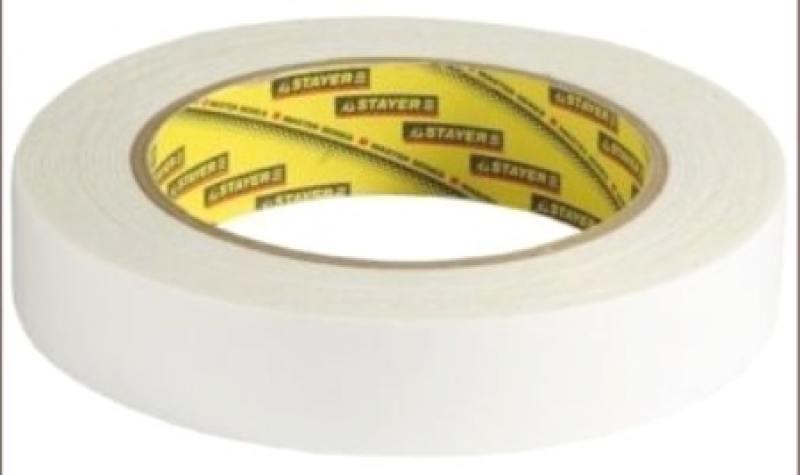 Лента Stayer PROFI двусторонняя на вспененной основе белая 19мм х 5м 12231-19-05