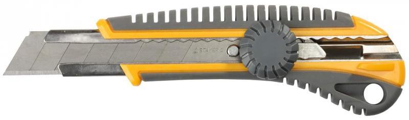 Нож Stayer MASTER с сегментированным лезвием пластмасс 18мм 09161 нож stayer 47621 1