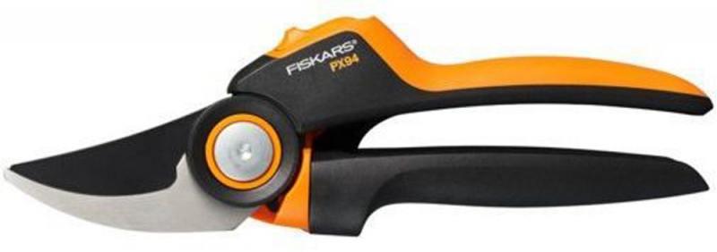 Сучкорез плоскостной Fiskars PowerGear PX94 большой черный/оранжевый 1023628 секатор плоскостной powergear l px94 fiskars 1023628