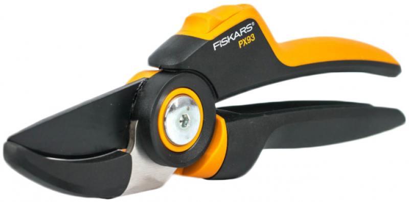 Сучкорез плоскостной Fiskars PowerGear PX93 большой черный/оранжевый 1023629 средний плоскостной сучкорез с загнутыми лезвиями fiskars m l75