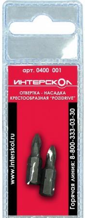 Отвертка-насадка Интерскол крестообразная Phillips PH1 25мм 2шт отвертка насадка 1 4 6 гранник 6мм 25мм