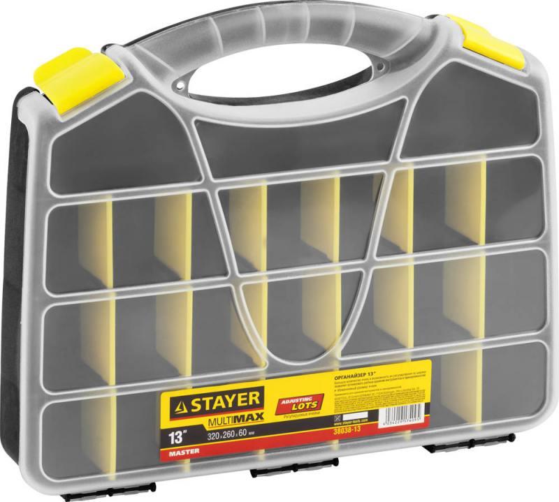 Органайзер Stayer Master 13 для крепежа и принадлежностей 320х260х55мм 38038-13