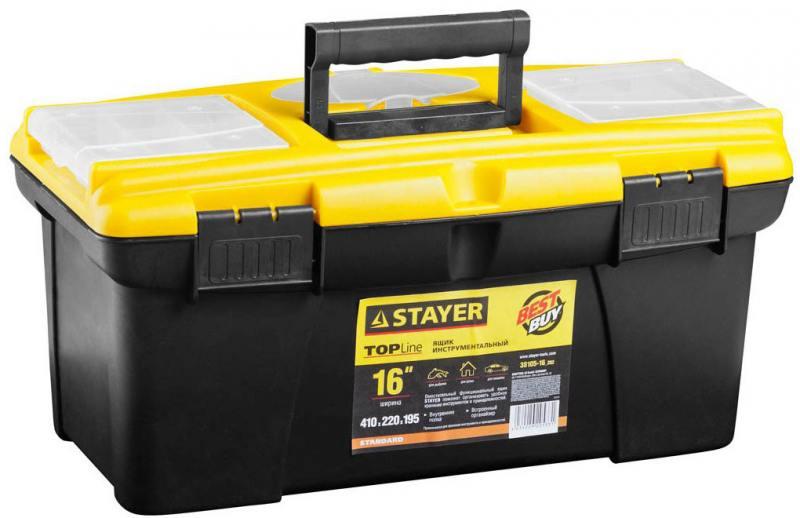 Ящик для инструмента Stayer Standard 16 пластиковый с органайзерами 38105-16_z02