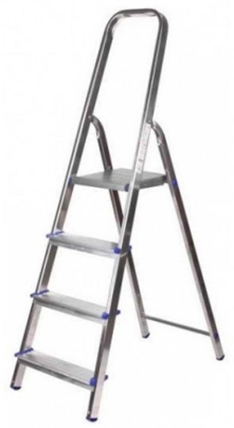 Лестница-стремянка Зубр алюминиевая 4 ступени 38801-4 стремянка алюминиевая zalger 111 4 4 ступени