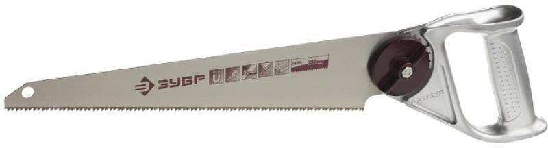 Ножовка Зубр Мастер по дереву универсальная многопозиционная со сменным полотном 4-15178