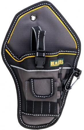 Кобура Kraftool Industrie для шуруповерта с отделениями для бит и сверл 38744