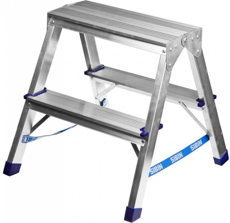 Лестница-стремянка Сибин алюминиевая 2 ступени 38825-02 лестница стремянка сибин