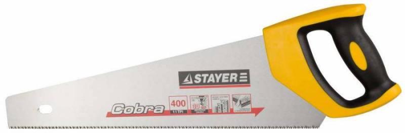 Ножовка Stayer Cobra Super Fiine по дереву мелкий зуб 1514-40