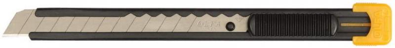Нож Olfa с выдвижным лезвием, металлический корпус 9мм OL-S
