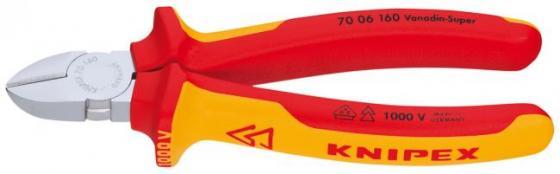 Бокорезы KNIPEX 7006160 1000V 160мм диагональные,ручки изолированные,с двухцв многокомп чехлами