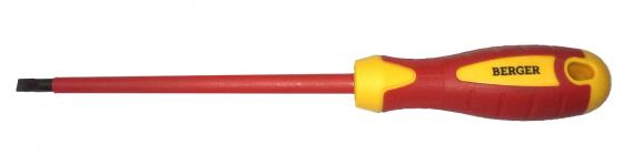 Отвертка BERGER BG1051 шлицевая 0.4x2.5x75мм диэлектрическая до 1000В