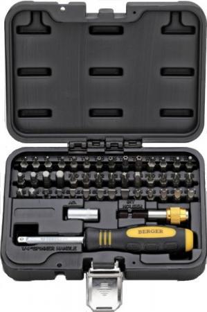 Набор бит BERGER BG-45SB ручка+биты 45 предметов в кейсе
