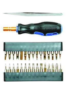 Отвертка мини SKRAB 42626 31пр.: биты, адаптер, пинцет, для точной механики отвертка skrab 41184