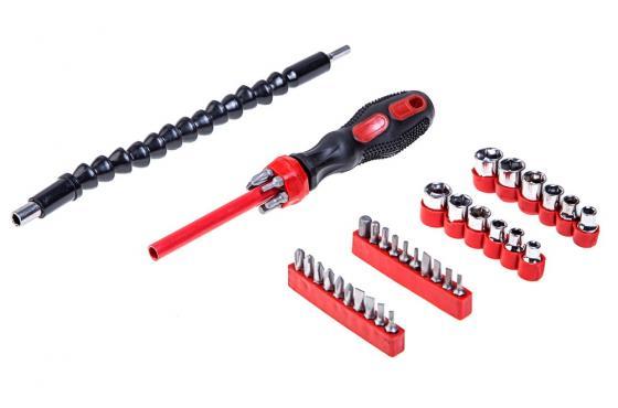 Отвертка VIRA 303178 с гибким приводом и набором головок и бит (40в 1)