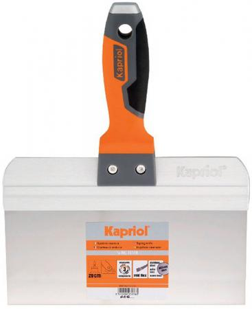 Шпатель KAPRIOL 23172 80мм пластик пластик-резина kapriol 120 мм 23174 полужесткий шпатель с ручкой progrip