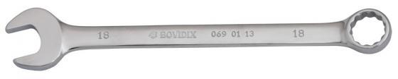 Ключ комбинированный BOVIDIX 0690113 (18 мм) 220 мм комбинированный ключ трещоточный с быстрозахватной рожковой частью 22 мм kabo pfd221 72 зубца