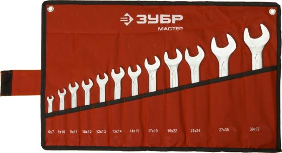 Набор рожковых ключей ЗУБР 27010-H12 (6 - 32 мм) 12 шт.