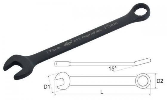 Ключ комбинированный AIST 011127B (27 мм) c отгибом 15°