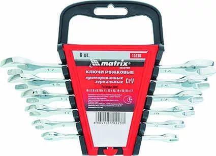 Набор рожковых ключей MATRIX 15236 (6 - 17 мм) 6 шт.