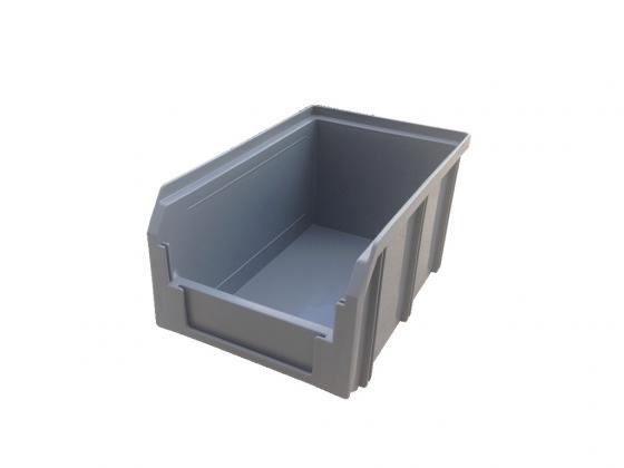 Ящик СТЕЛЛА V-2 3,8 литр, серый пластик 234х149х121мм