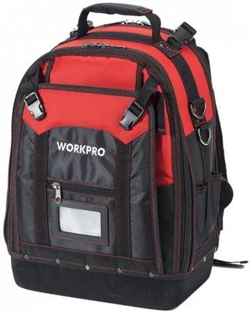 Рюкзак WORKPRO W081065 для инструмента высокой прочности 37карманов нагрузка до 65кг 340х200х430мм
