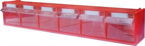 Короб СТЕЛЛА FOX-102 откидной красный/прозрачный 6ячеек короб стелла fox 103 откидной красный прозрачный 5ячеек