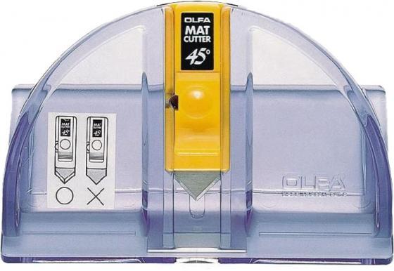 Канцелярский нож OLFA OL-MC-45/2B нерж.сталь пластик серебристый
