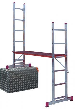 Подмости KRAUSE CORDA KS-080011 2х6 малые лестничные раб. высота 3 и 4.05 м стремянка krause safety ks 126344 6 ступеней раб высота 3 27 м