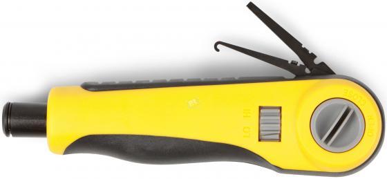 Инструмент для заделки витой пары Hyperline HT-3640R (нож в комплект не входит) инструмент для заделки витой пары hyperline ht 3640r нож в комплект не входит