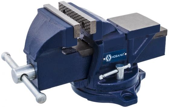Тиски КОБАЛЬТ 245-978 слесарные поворотные ширина губок 100мм захват 100мм 7кг наковальня коробка