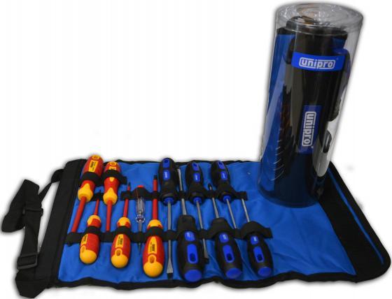Набор отверток UNIPRO U-905 - комбинация диэлектрических и слесарных отверток 12 шт. набор диэлектрических отверток fit 56130