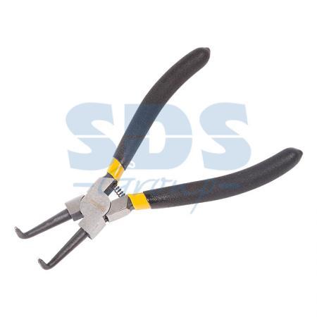 Щипцы для стопорных колец разжим загнутый 180 мм Proconnect