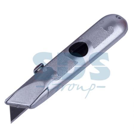 Нож с трапециевидным выдвижным лезвием Rexant рулетка rexant профи
