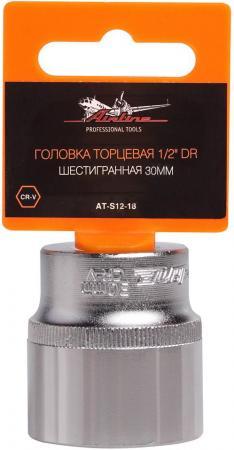 Головка AIRLINE AT-S12-18 торцевая 1/2 dr шестигранная 30мм насадка ombra торцевая 1 4 dr с вставкойбитой torx® t20 114320