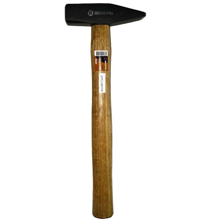 Молоток Вихрь 200гр, Квадратный боёк, деревянная ручка вихрь [73 6 8 5] молоток 400гр квадратный боёк фиберглассовая двухкомпонентная ручка