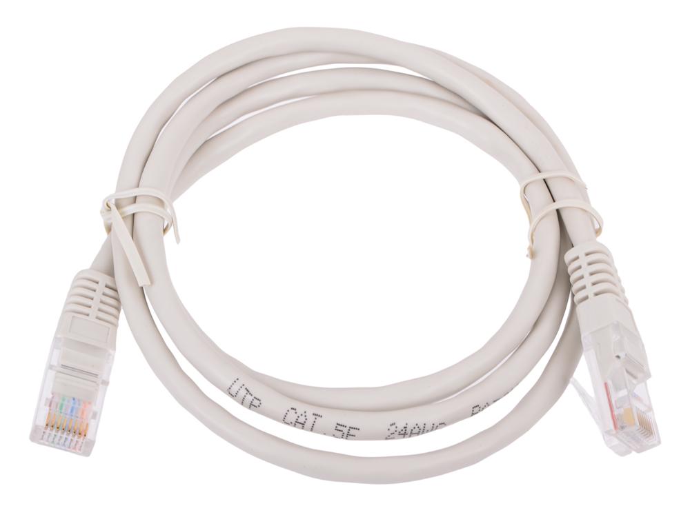 Сетевой кабель 1м UTP 5е Neomax NM13001-010 серый, медный, многожильный(7х0,2мм) patch cord, PVC, 24AWG