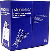 Кабель Neomax NM10101 UTP 200Mhz, 4 пары, Кат. 5е, 305 м. Медный  кабель компьютерный utp 4х2х0 52 5е 305 м