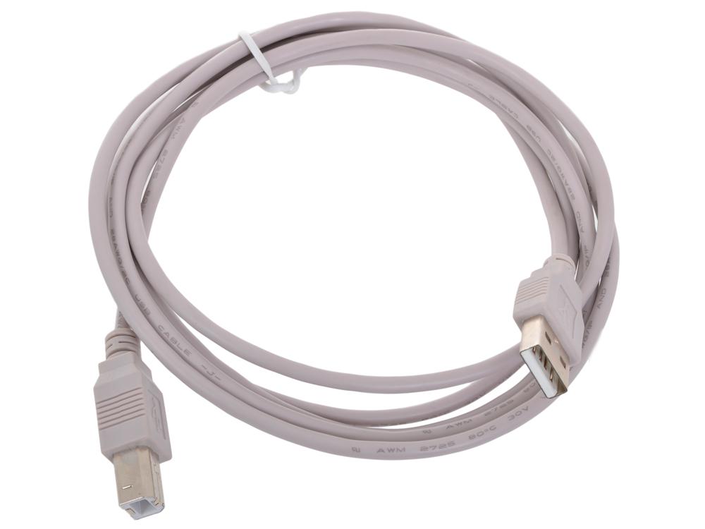 Кабель USB 2.0 AM/BM Gembird/Cablexpert, 1.8м, пакет, CC-USB2-AMBM-6 cтяжка пластиковая gembird nytfr 150x3 6 150мм черный 100шт