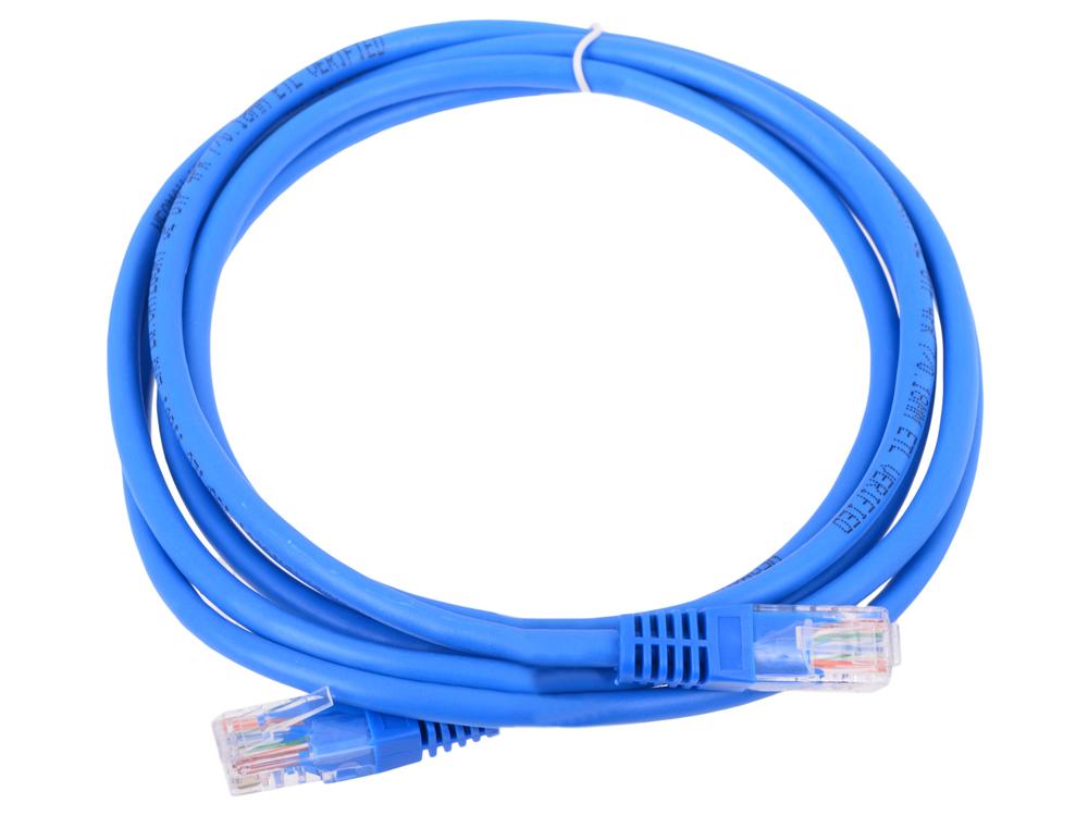 Сетевой кабель 2м UTP 5е Neomax NM13001-020B синий, медный, многожильный(7х0,2мм) patch cord, PVC, 24AWG