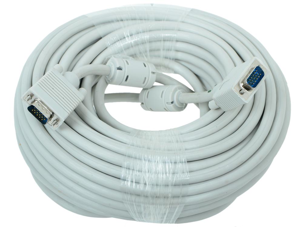 Кабель VGA Premium 15M/15M 20 м тройной экран, ферритовые кольца CC-PPVGA-20M кабель vga premium gembird 1 8м 15m 15m тройн экран феррит кольца пакет cc ppvga 6