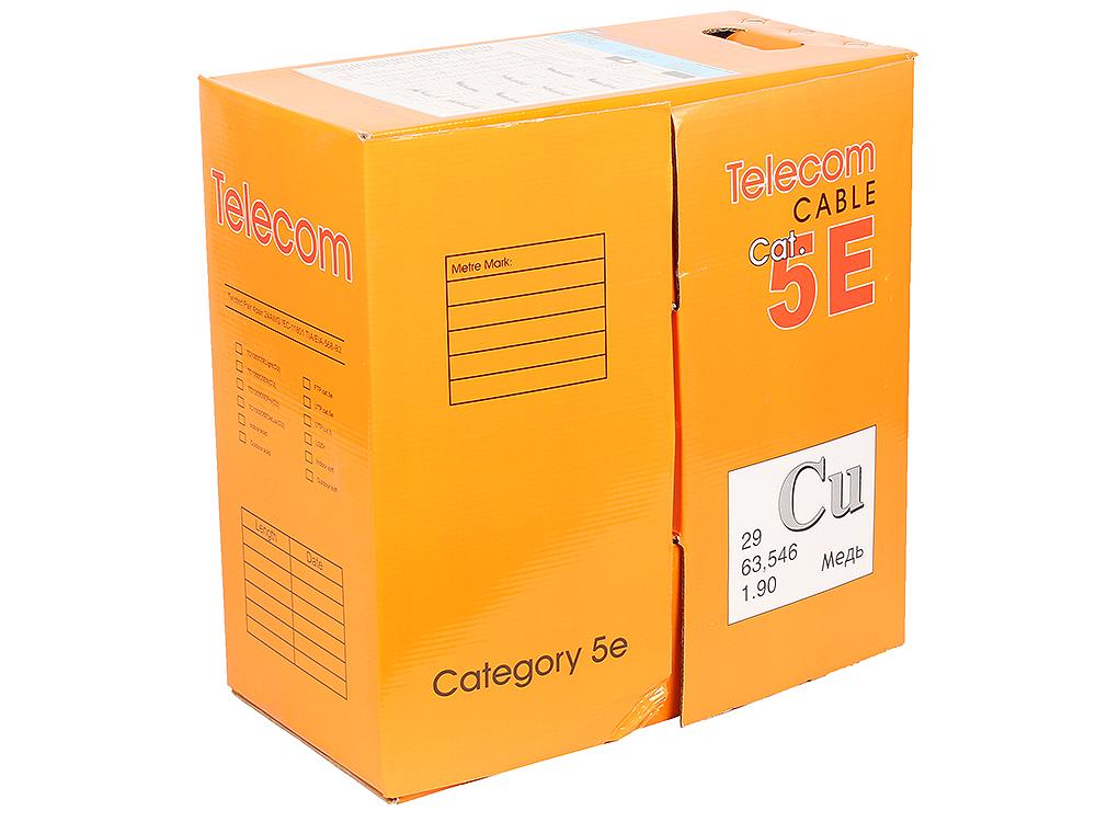 """Кабель """"Telecom"""" CU FTP 4 пары кат. 5e (TC1000C5EN(CU) Outdoor solid)(бухта 305м)   (Медный) от OLDI"""