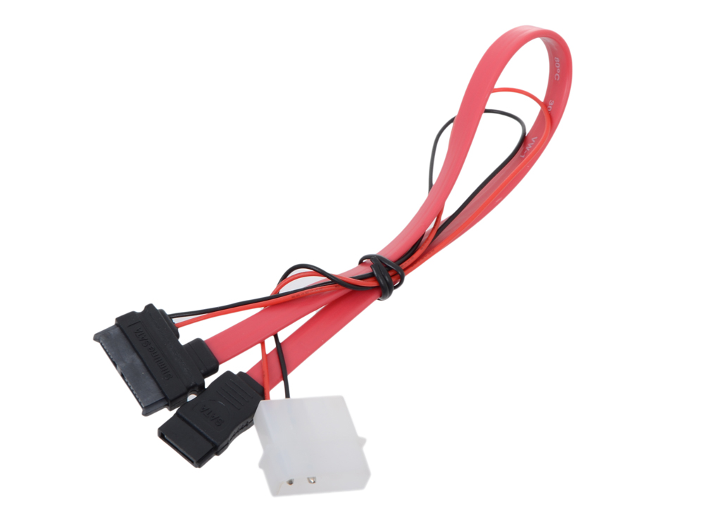 Кабель SATA Slimline SATA 6+7P/SATA 7P + Power for miniITX case sata 09519
