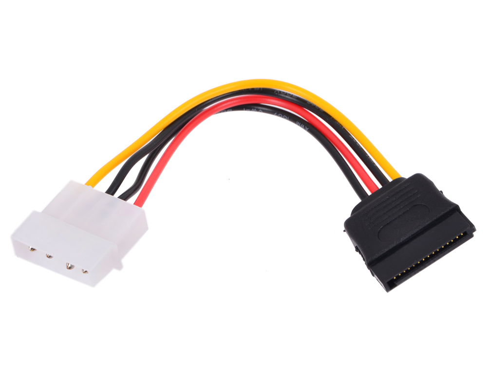 Фото - Кабель питания SATA Gembird CC-SATA-PS Molex(4pin, БП) - SATA (устройство) 15см, пакет кабель sata 100см