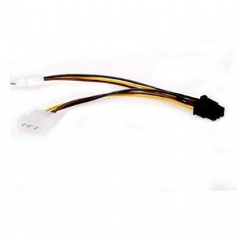 Кабель питания 2хMolex(2x4pin) -PCI-E 6pin, для подкл. видеокарты к б/п, Gembird CC-PSU-6 new dual 6pin pci e video graphic card with switch power 50cm 20cm u type terminal cable 18awg sent by dhl