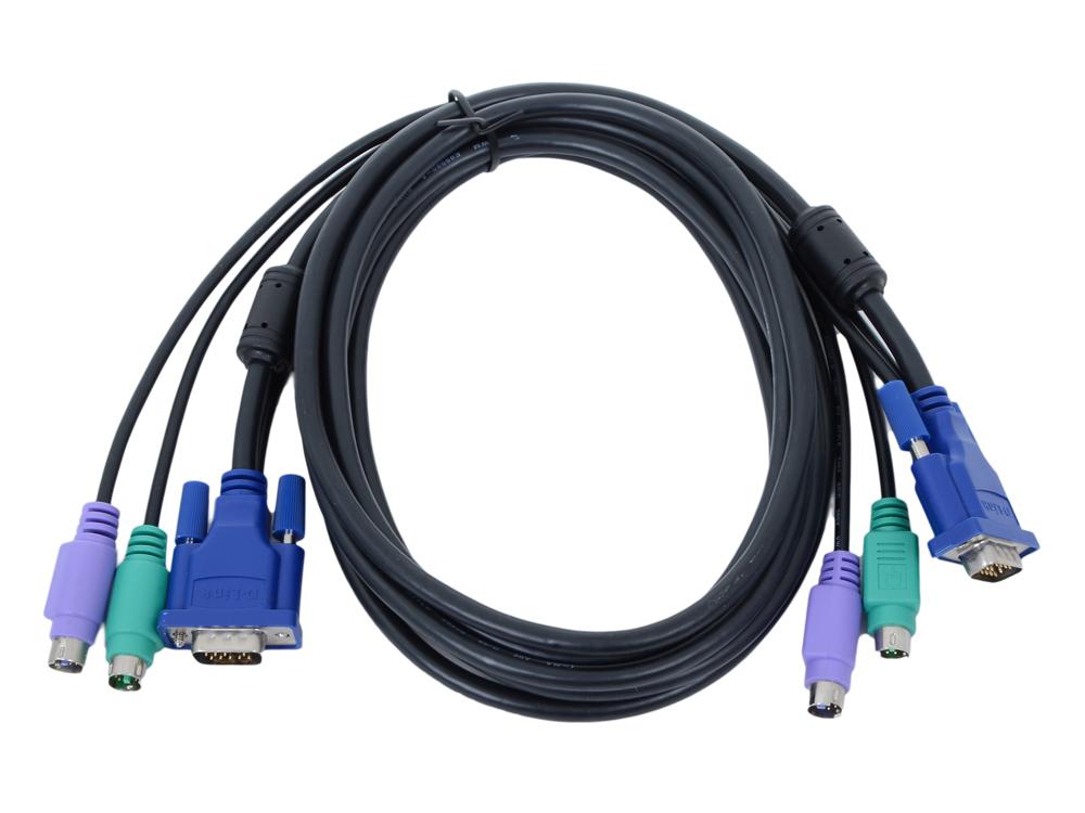 Набор кабелей D-LINK DKVM-CB3 Набор кабелей для DKVM - 2хPS/2,1xVGA, 3м