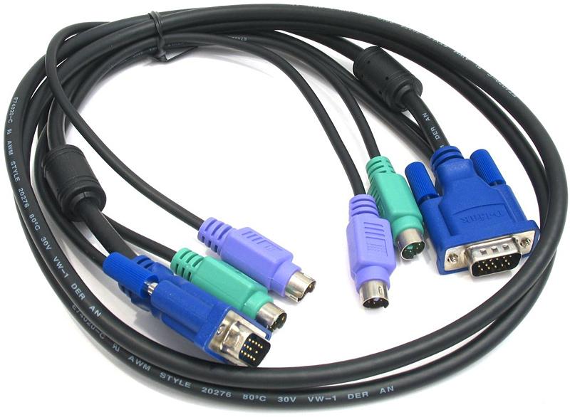 Набор кабелей D-LINK DKVM-CB5 Набор кабелей для DKVM - 2хPS/2,1xVGA, 5м d link dkvm 4k