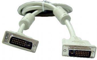 Кабель DVI-D 25M/25M Dual Link Gembird 1.8м, экран, феррит.кольца, пакет CC-DVI2-6C кабель vcom dvi dvi dual link 25m 25m 1 8m 2 фильтра позолоченные контакты