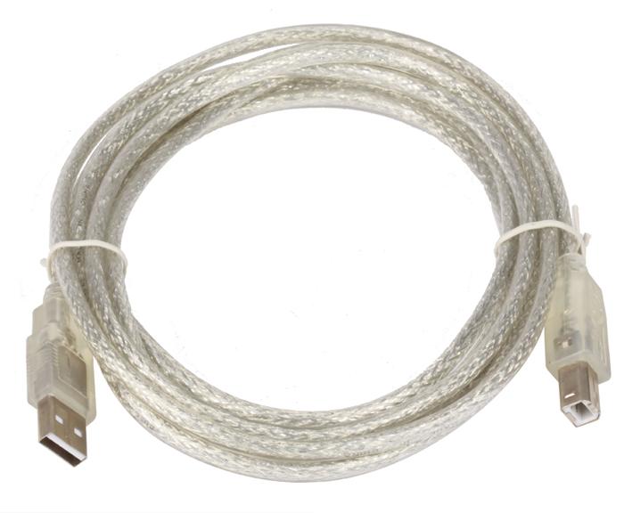 Кабель USB 20 AMBM 3m Telecom прозрачная изоляция VUS6900T-3MTP