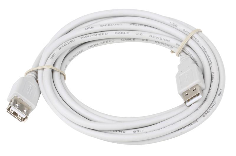 Фото - Кабель-удлинитель Telecom (VUS6956T-3MTBO), USB 2.0 AM/AF 3 м, белый standard usb 3 0 a male am to usb 3 0 a female af usb3 0 extension cable 0 3 m 0 6 m 1 m 1 5 m 1 8m 3m 1ft 2ft 3ft 5ft 6ft 10ft